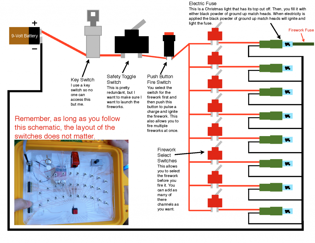 Firework Detonator Wiring Diagram Push On Ignition Switch